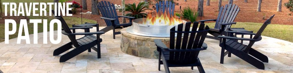 Travertine-patio