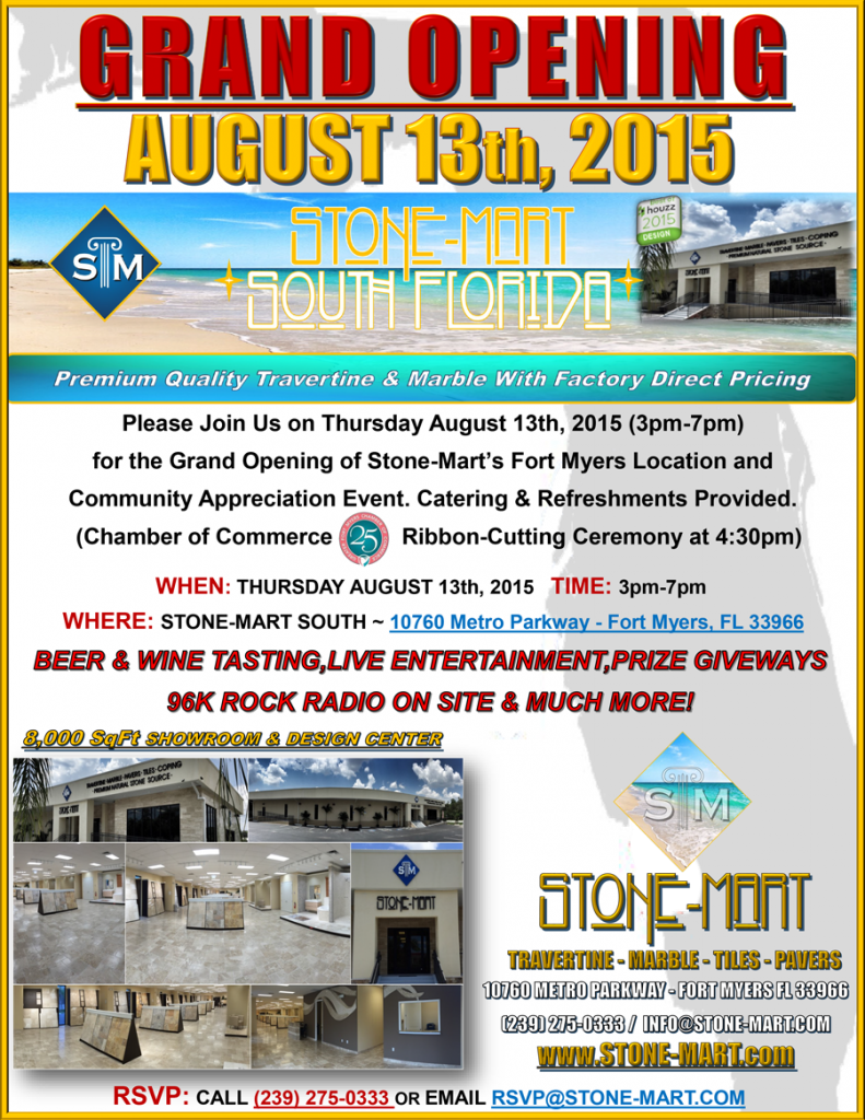 STONE-MART-FT-MYERS--GRAND-OPENING-AUGUST-13th-2015-3pm-7pm