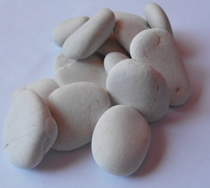 White Loose Pebbles